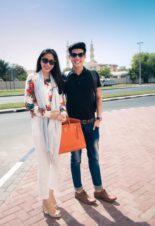 Thuỷ Tiên - Noo Phước Thịnh đội nắng khám phá Dubai