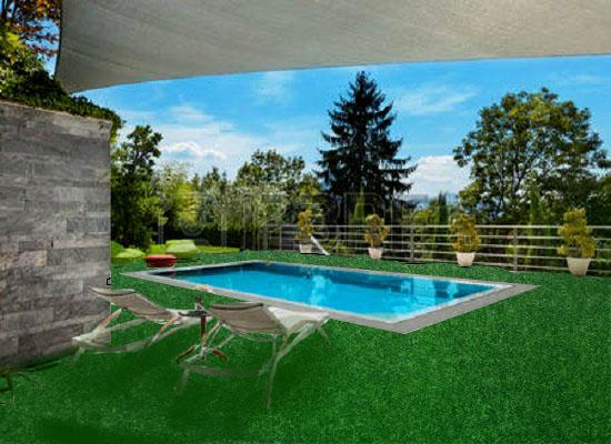 Cỏ nhân tạo trải sàn hồ bơi ngoài trời