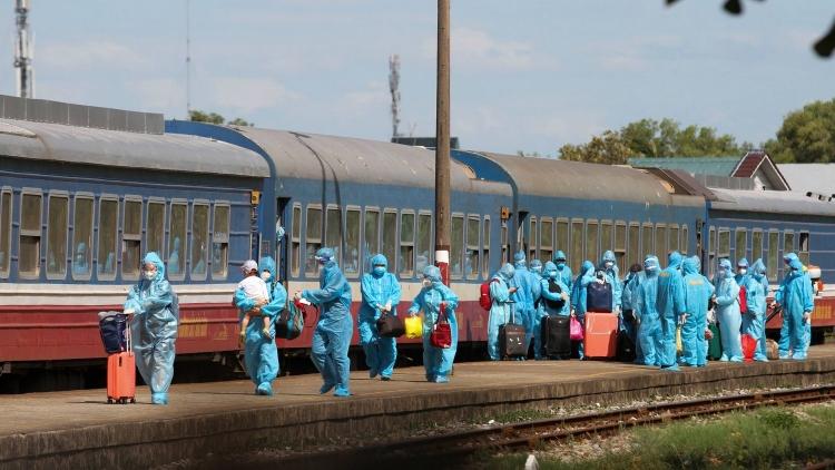 Quảng Trị tiếp tục đón công dân ở các tỉnh phía Nam về quê